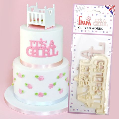 FMM   CURVED WORDS CUTTER   IT'S A GIRL