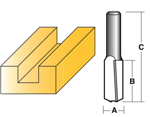 STRAIGHT BIT WITH DOWN SHEAR