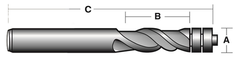 SPIRAL FLUTE BIT - WITH BEARING