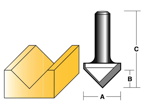 90 DEGREE V GROOVE BITS - HIGH SPEED STEEL