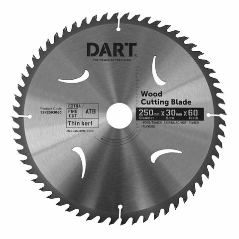250MM TIMBER BLADE - 60T FINE CUT