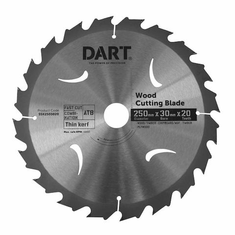 250MM TIMBER BLADE - 20T FAST CUT
