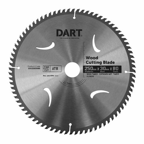 250MM TIMBER BLADE - 80T EXTRA FINE CUT
