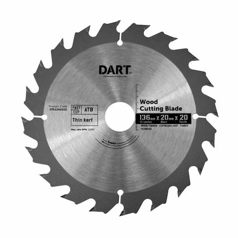 136MM TIMBER BLADE - 20T FAST CUT