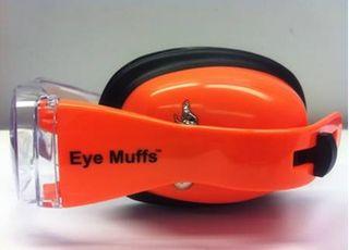 EYEMUFFS EAR AND EYE PROTECTION ORANGE
