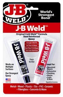 JB WELD COLD WELD STEEL REINFORCED EPOXY TWIN TUBE