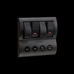NARVA 4-WAY LED SWITCH PANEL WITH FUSE PROTECTION