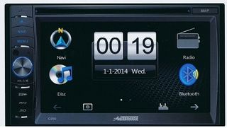 MONGOOSE UNIVERSAL DOUBLE DIN AUDIO-VISUAL STEREO GPS/DVD/BLUETOOTH/IPOD LEAD