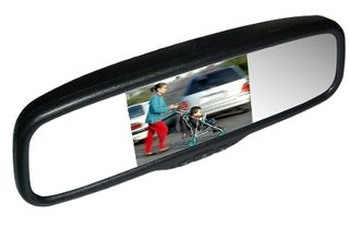 "MONGOOSE 5"" 'REPLACEMENT' IN-MIRROR MONITOR CLIP ON"