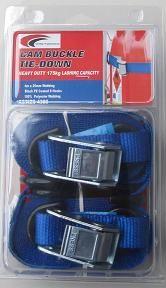 Tie down 4m x  25mm Camlock Twinpack LC175kg