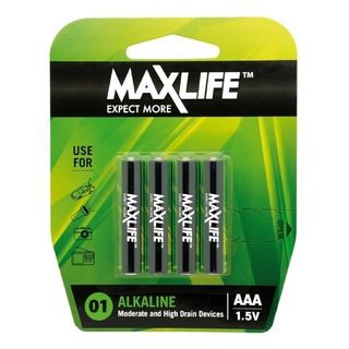 MAXLIFE AAA ALKALINE 4 PACK BATTERIES