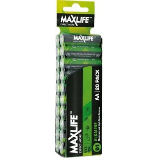 MAXLIFE AA ALKALINE 20 PACK BATTERIES