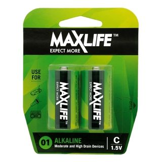 MAXLIFE C ALKALINE 2 PACK BATTERIES