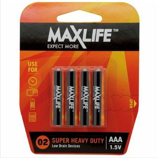 MAXLIFE AAA SUPER H/DUTY 4 PACK BATTERIES