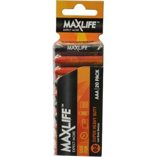 MAXLIFE AAA SUPER H/DUTY 20 PACK BATTERIES