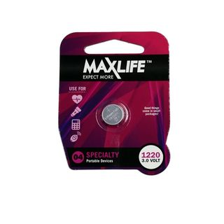 MAXLIFE CR1220 LITHIUM BUTTON CELL BATTERY