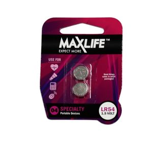MAXLIFE LR54 ALKALINE BUTTON CELL 2 PACK
