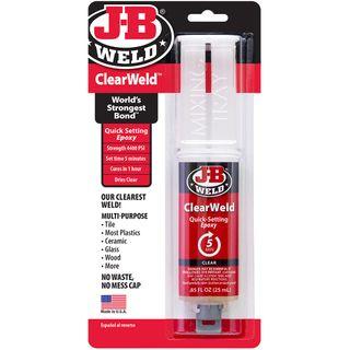 JB WELD CLEARWELD CLEAR EPOXY SYRINGE