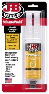 JB WELD MINUTEWELD CLEAR EPOXY SYRINGE