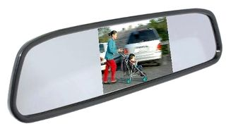 "MONGOOSE 4.3"" CLIP-ON MIRROR MONITOR"
