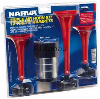 NARVA 12 VOLT TRIPLE AIR HORN KIT