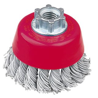 CUP BRUSH HIGH SPEED 75MM X M10 MULTI FIT COATED