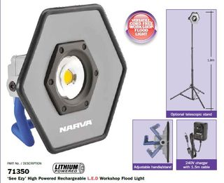 FLOODLIGHT WORKSHOP LED RECHARGEABLE