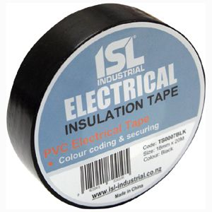 PREMIUM PVC INSULATION TAPE BLACK 18MM X 20M