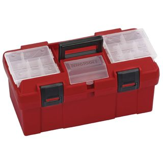 TENG 445MM PLASTIC PORTABLE TOOL BOX (W/STORAGE)