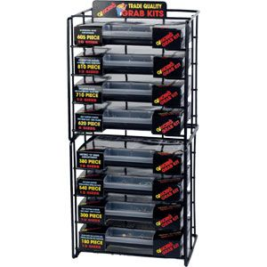 GJ GRAB KIT ASSORTMENT RACK - 8 TIER