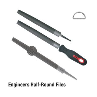 FILE 300MM HALF ROUND SECOND CUT CARDED