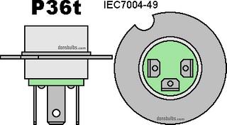 BULB HGH 12v 60/55w P36T