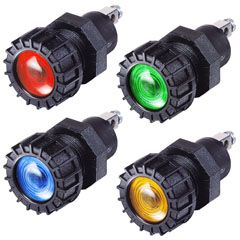 6-36V LED PILOT LAMP RED 22MM MOUNTING HOLE