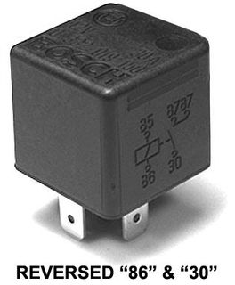 MINI RELAY 12V 30A N/Open (Reversed)  ACX1966RBL
