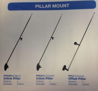 AERIAL INLINE PILLAR MOUNT (CHROME)