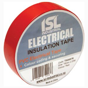 PVC INSULATION TAPE RED 18MM X 20M (E)