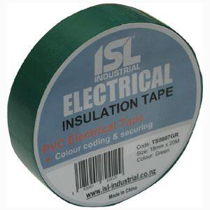 PVC INSULATION TAPE GREEN 18MM X 20M (E)