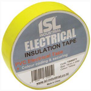 PVC INSULATION TAPE YELLOW 18MM X 20M (E)
