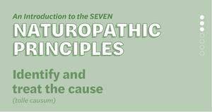 Naturopathic Principles: Treat the Cause