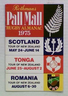 Rothmans Pall Mall Rugby Almanack 1975