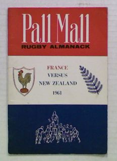 Pall Mall Rugby Almanack. France Vs. New Zealand 1961
