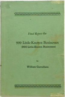 Final Report on 999 Little-Known Busines