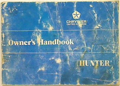 Chrysler Hunter Owner's Handbook