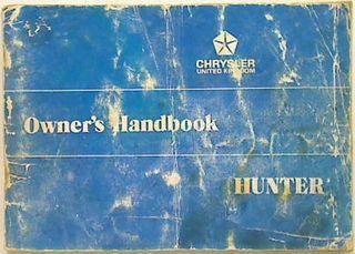 Chrysler Hunter Owner's Handbook