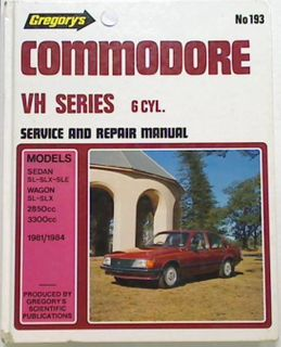 Commodore VH Series 6 Cylinder Manual