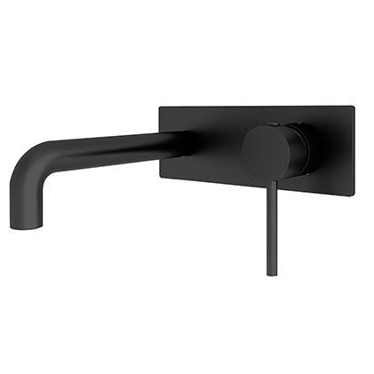 Dolce Wall Basin Mixer STYLISH Spt BLACK