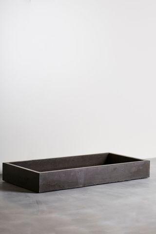 Concrete 1240mm Cube Vessel Sink Basin