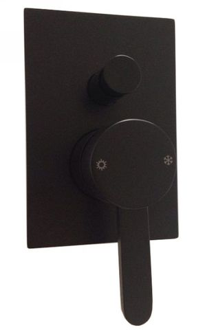 Azzure Matte Black Shower Mixer w/Divert