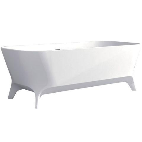 Hampton Freestanding Bath Matte WHITE