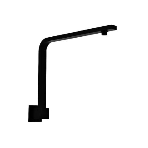 Niagra Square Wall Arm with Rise Black